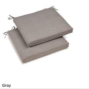 4 gray durable outdoor patio cushions